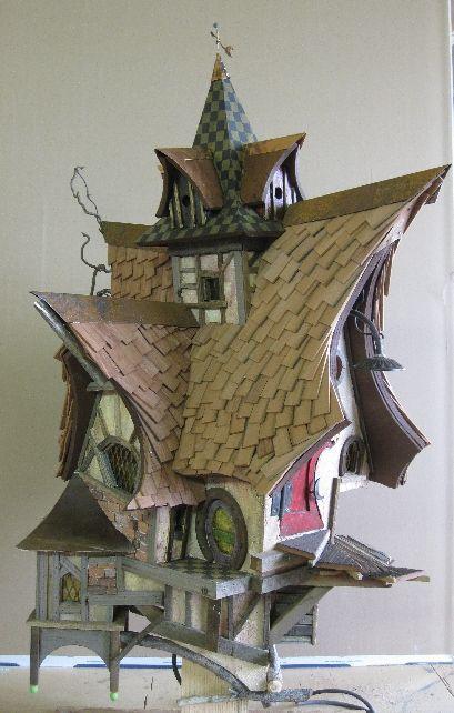 Crooked Birdhouse Birdhouses Bird House Feeder Bird Houses Fairy Garden Houses