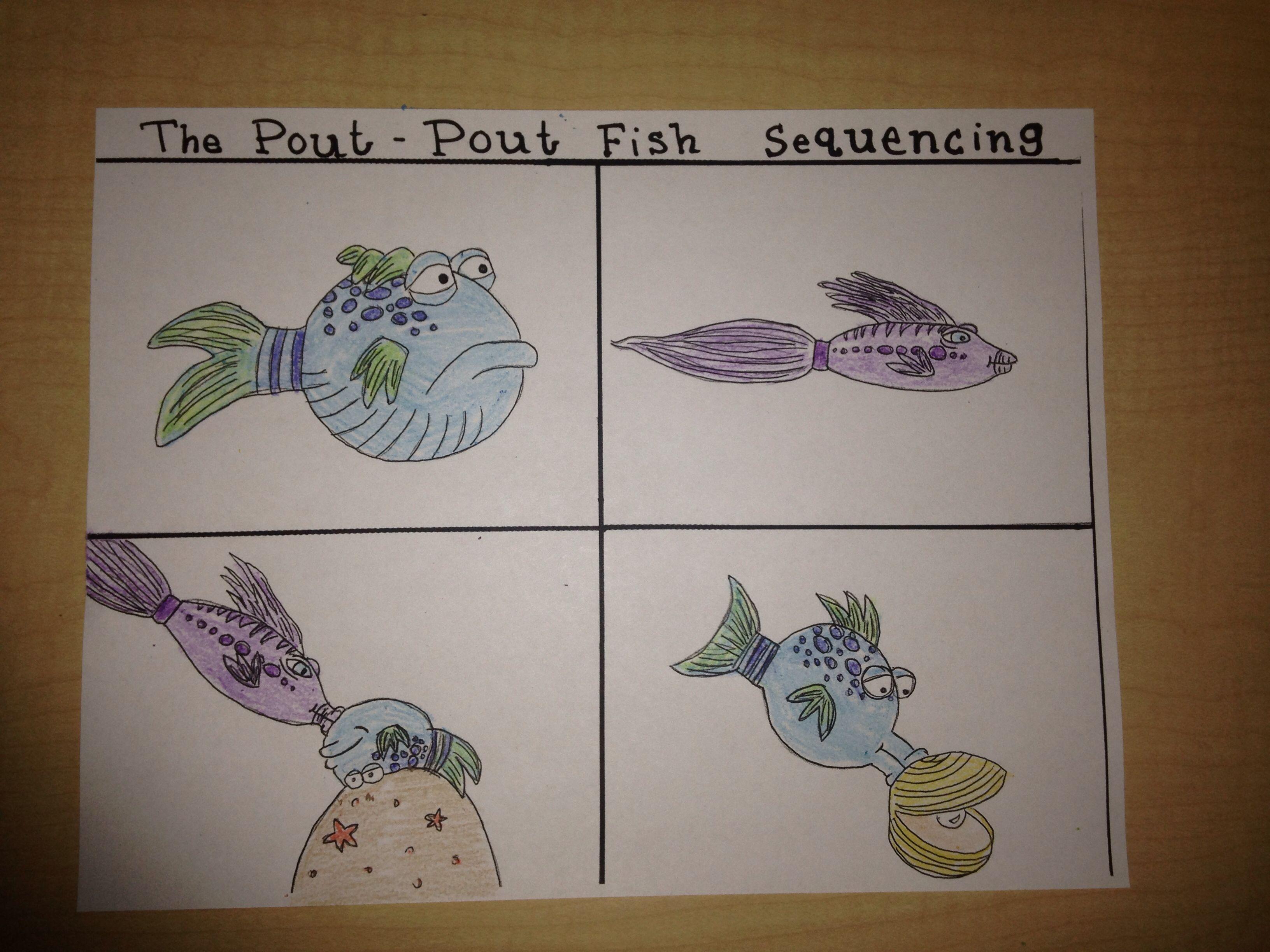 The Pout Pout Fish By Deborahsen 4 Step Sequencing
