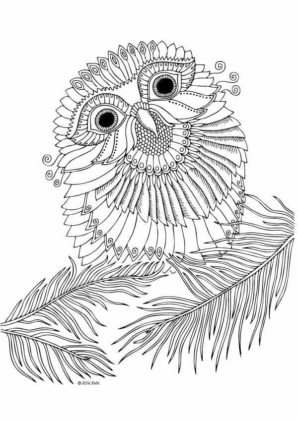 illustration by Keiti | owls | Pinterest | Mandalas, Colorear y Pájaro
