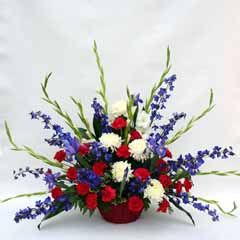 Red white and blue floral arrangements google search for Red white blue flower arrangements