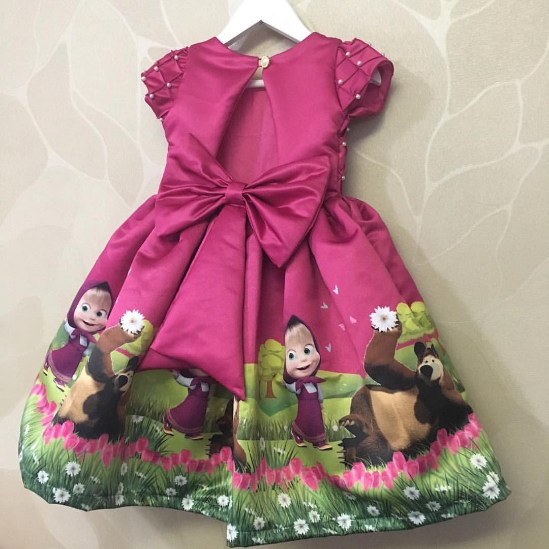 Vestido Temático Masha E O Urso Quem Amou By