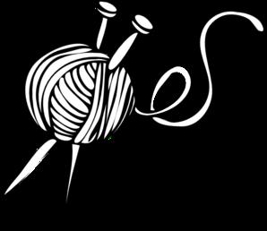 white yarn ball with knitting needles clip art my crafty space rh za pinterest com