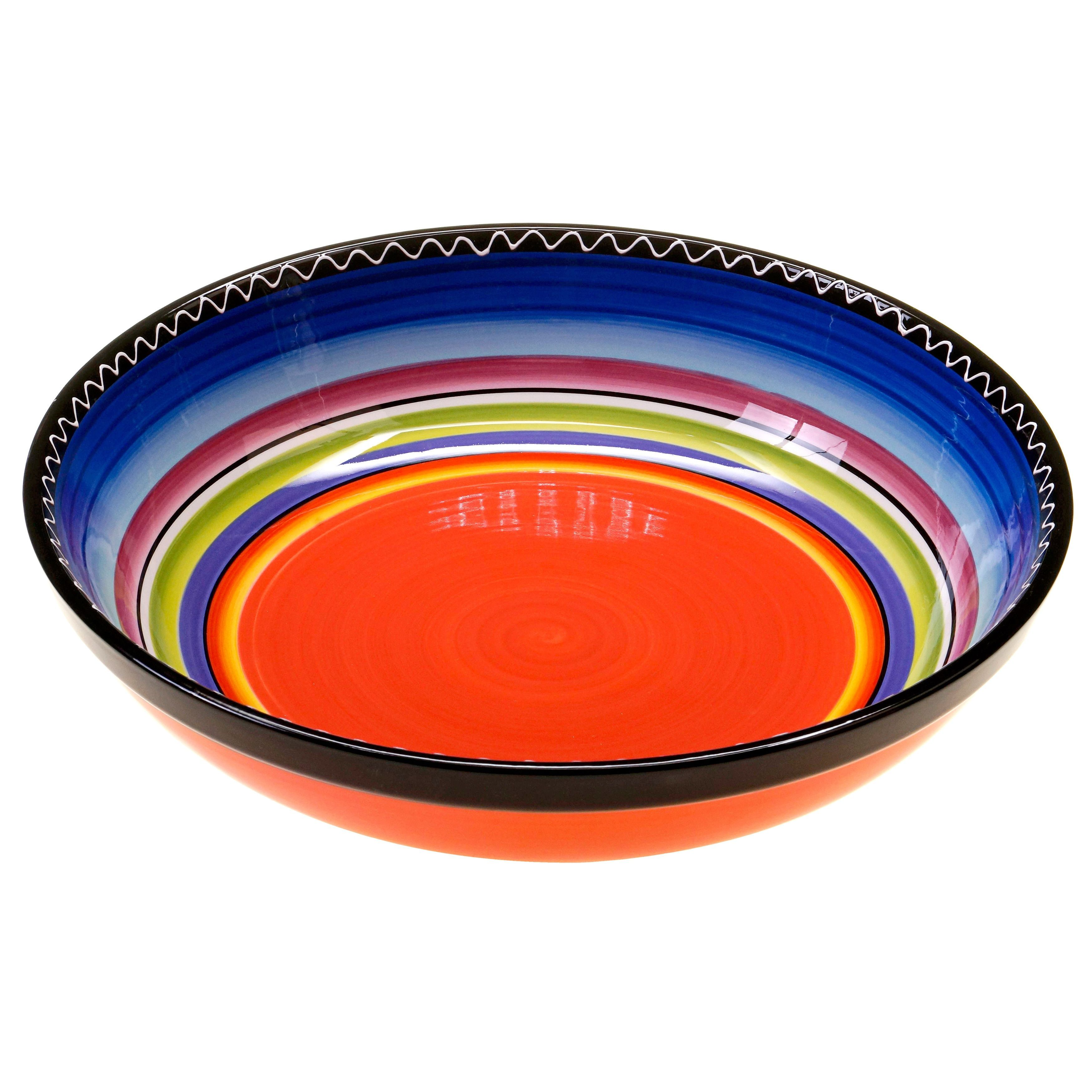 Certified International Hand-painted Tequila Sunrise 13-inch Serving Bowl
