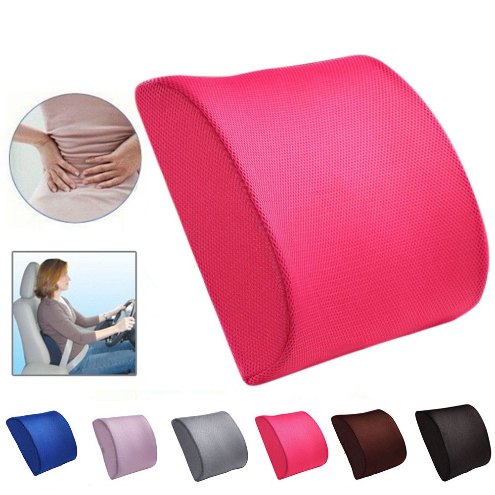 New memory foam lumbar back support cushion relief pillow for office