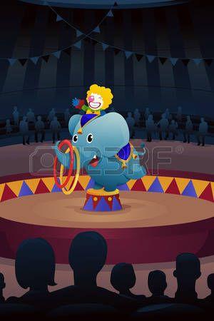 Una ilustración vectorial de funcionamiento del circo Vectores