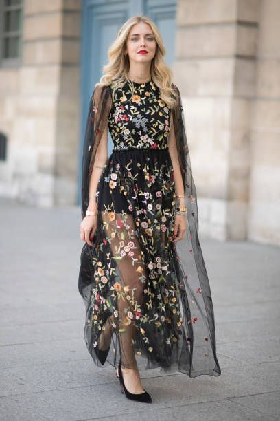 Chiara Ferragni seen wearing a Dior dress after the Dior Haute Coutoure show  in the streets of Paris during Haute Couture on July 4 2017 in Paris. db83b333ba404