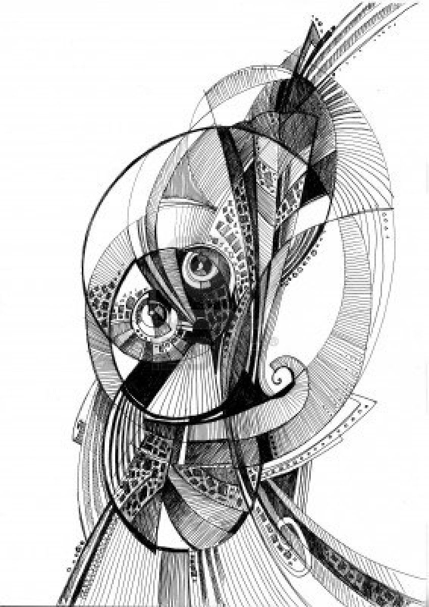 Unusual abstract pencil drawing art and stuff abstract pencil