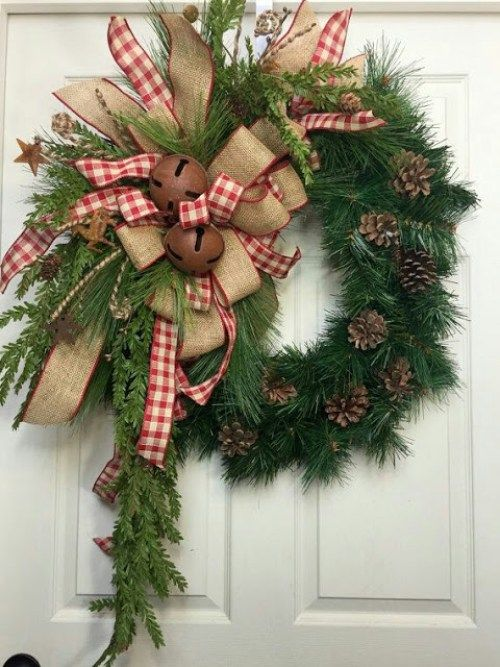 Decoraciones navide as con list n de yute navidad for Decoraciones rusticas para navidad