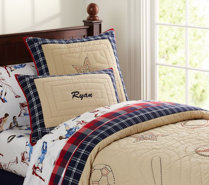 Sports room (Chase) | Sports bedding, Sports themed ...