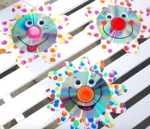 Bastel-Tipp: Lustige CD-Clowns für närrische Deko - Die Fachseite für Erzieher/innen