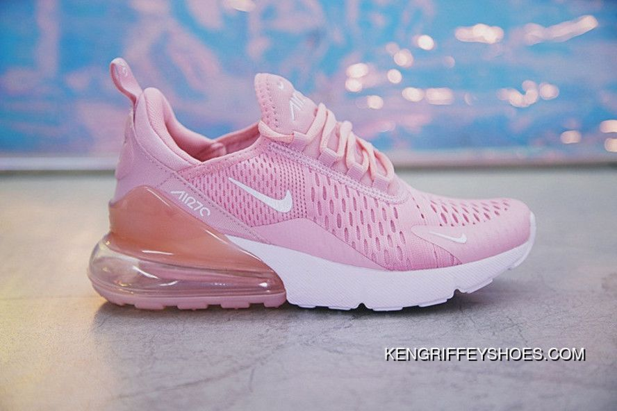 18SS Nike Air Max 270 AH8050-610 Pink White Women New Year Deals in ... aa7b69a6c9