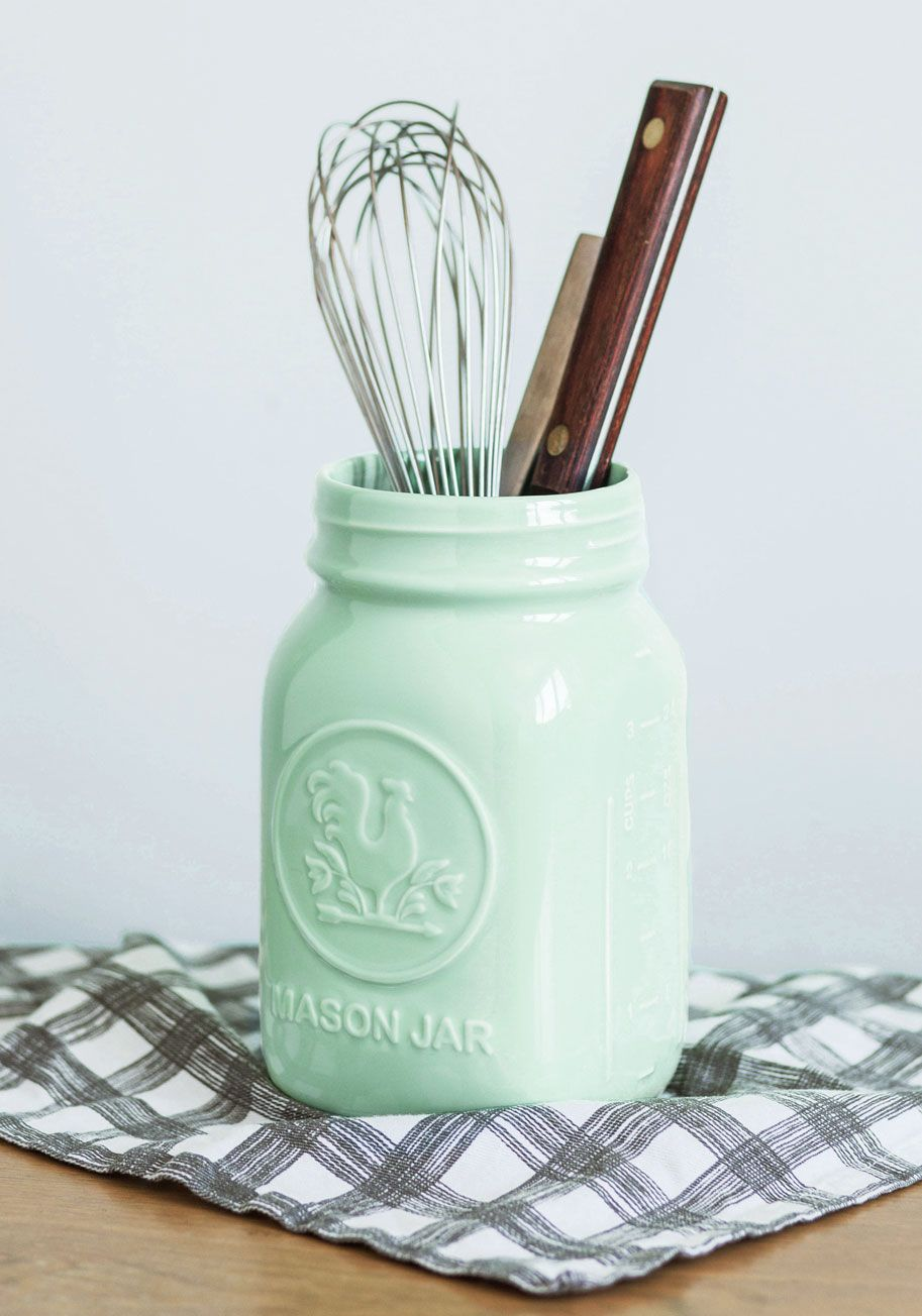 Rock Around the Crock Container, #ModCloth - This would be so cute next to my jadeite cake stand!