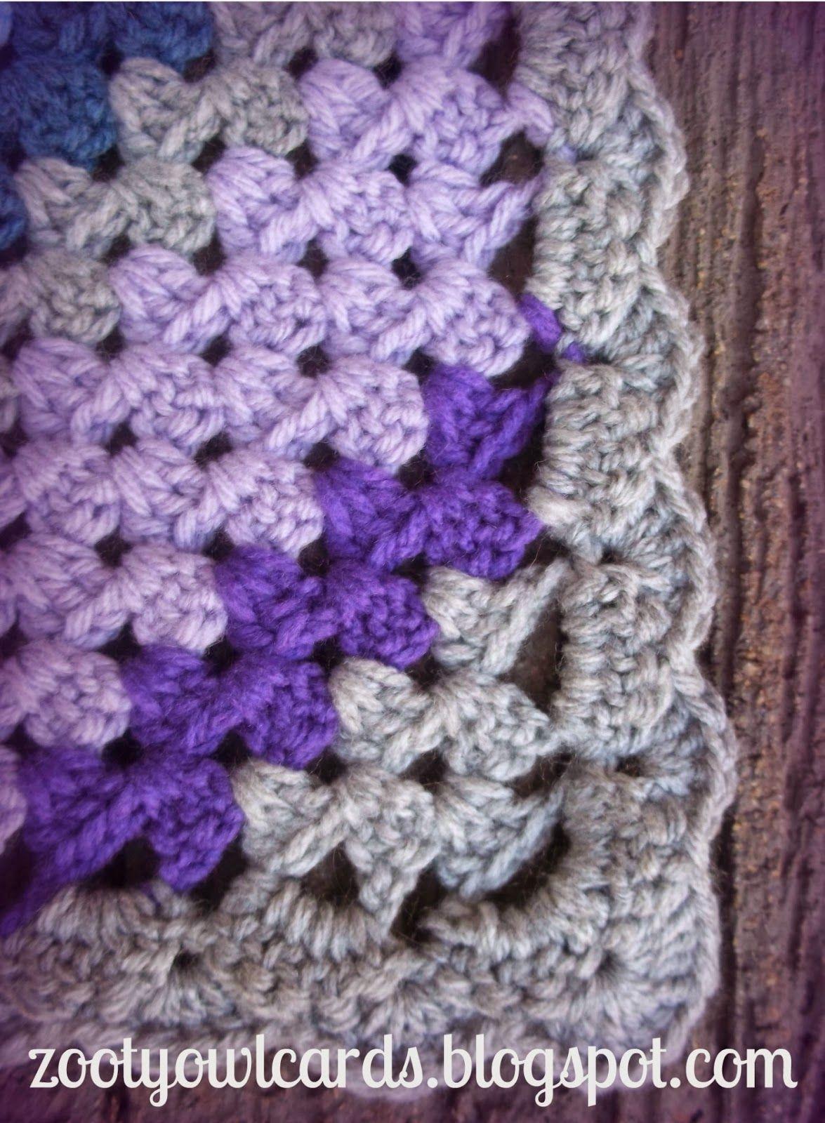 diagonal granny stripe Tutorial ༺✿Teresa Restegui http://www ...