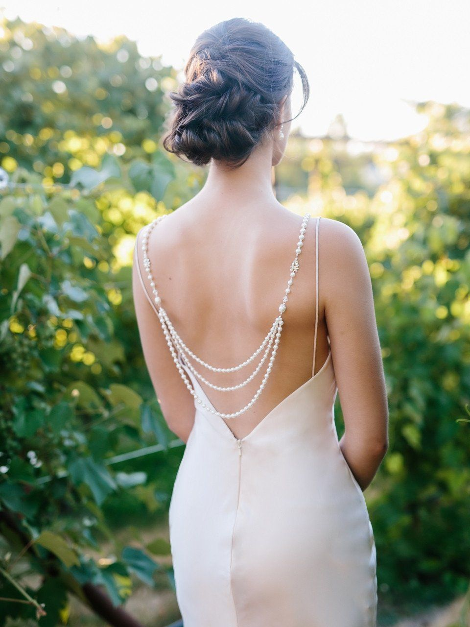 Pearl back jewelry for dresses ivory pearl and pearls