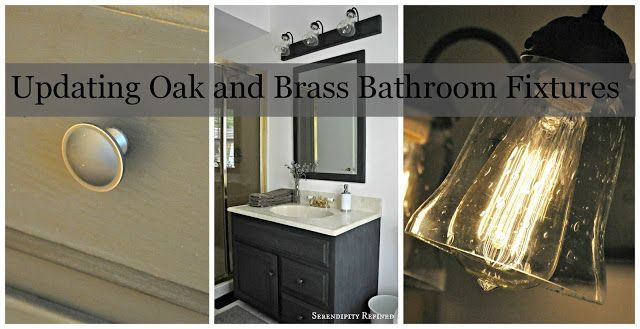 Photo of Serendipity Refined: How To Update Oak And Brass Bathroom Faucets With …