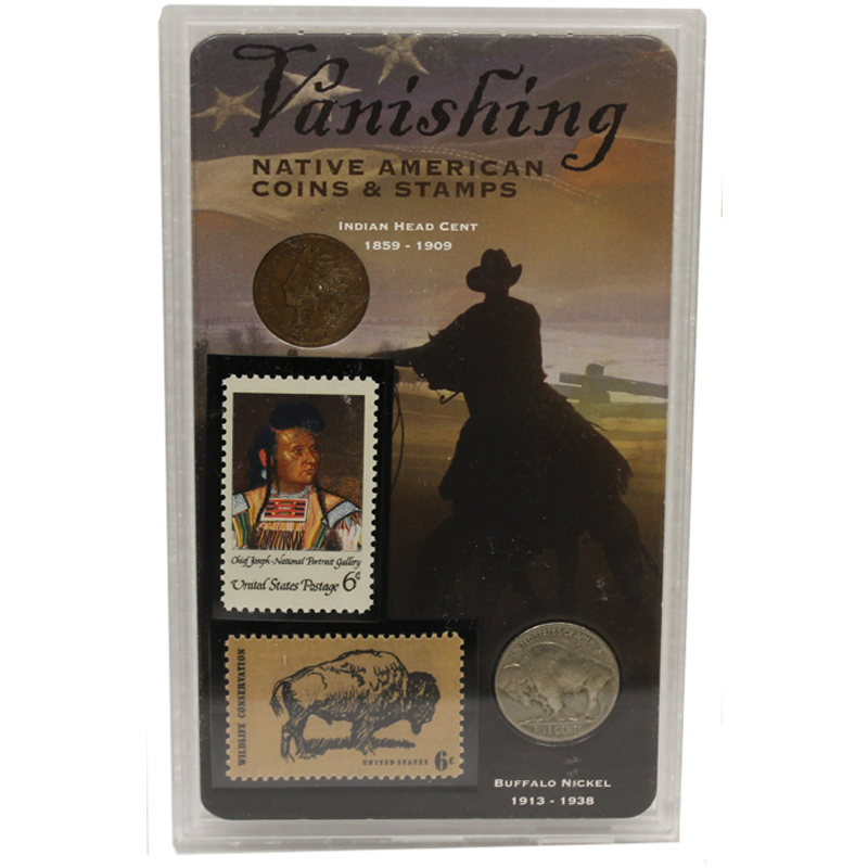 Vanishing Native American Stamps And Coin Set Includes