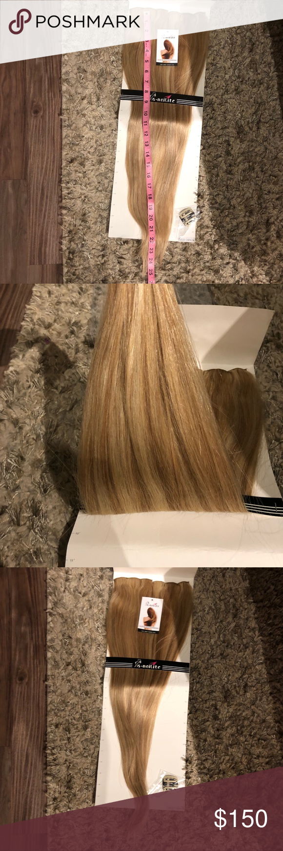 "Nwt$150 Remy 22"" clip on hair extension ash blonde Double Weft 100% Remy Human Hair Clip in Extensions Highlight #18/613 22'' Grade 7A Quality Full Head Thick Long Soft Silky Straight 8pcs 18clips(22/22 inch 160g,Light Ash Blonde/Bleach Blonde) it weighs 5.6 ounces. These are brand new still in package they the packaging says 22"" but they are longer please check photo for measurements. The color is ash blonde mix with blonde you can always tone them with purple shampoo to your likings. remy hair extensions Accessories Hair Accessories #lightashblonde"