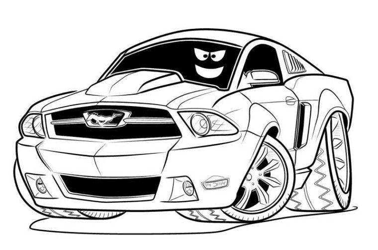 1969 Mustang Coloring Pages Car Printable Coloring Pages