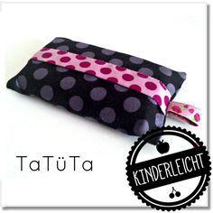 KINDERleicht und schön | Nähen mit Cherrygrön: Schnief - einfache TaTüTa (Taschentüchertasche) #stoffresteverwerten