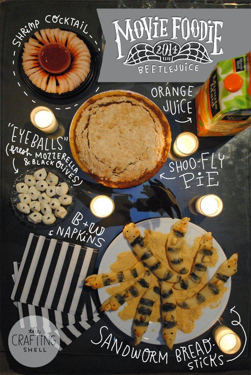 the crafting shell  movie foodie  beetlejuice
