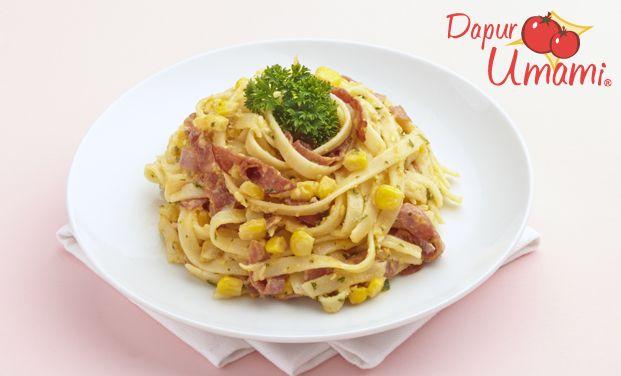 Fettucini Mayo Pedas Makanan Resep Pasta Resep Masakan