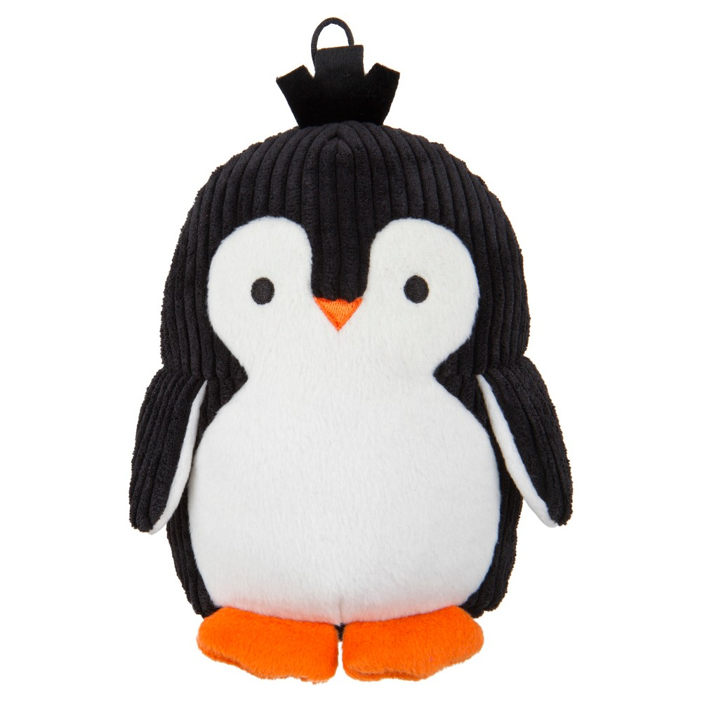 Trustypup Penguin With Silent Squeak Dog Toy Black Plush Dog