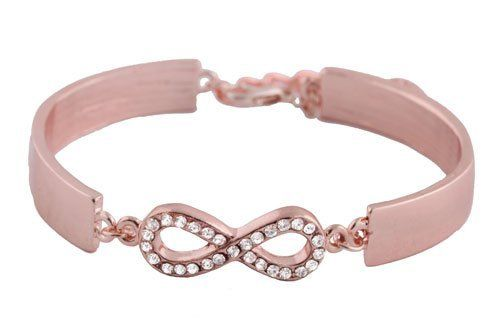 Ladies Rose Gold Iced Out Infinity ID Style Link Bracelet JOTW. $4.95. Great Quality Jewelry!. 100% Satisfaction Guaranteed!