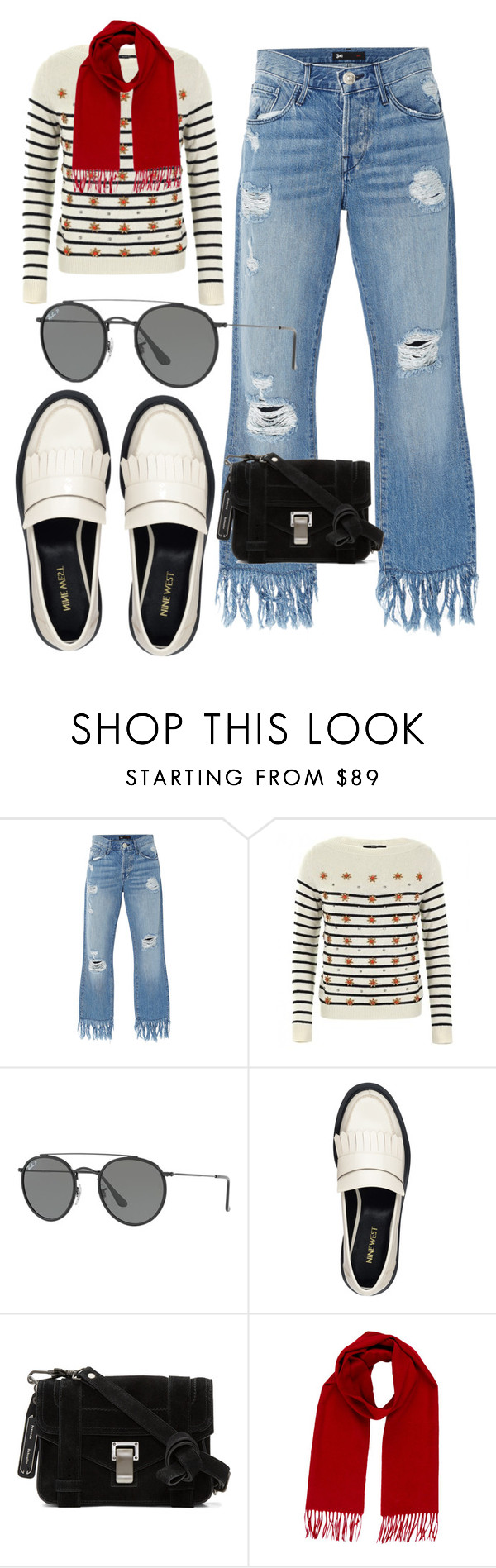 """""""Concert in the Park"""" by mdfletch ❤ liked on Polyvore featuring 3x1, Gucci, Ray-Ban, Nine West, Proenza Schouler, Yves Saint Laurent and oncert"""