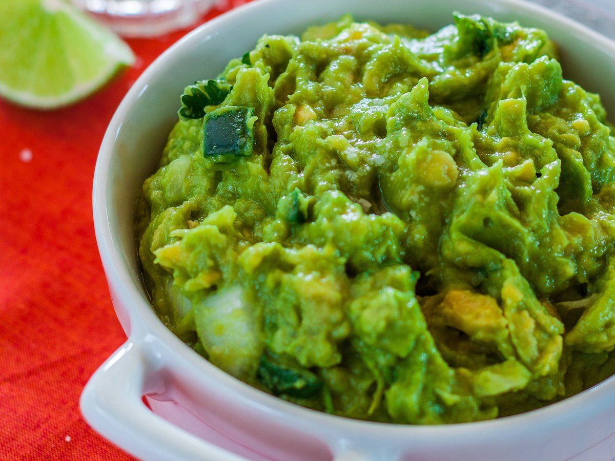 Guacamole with Tequila and Lime