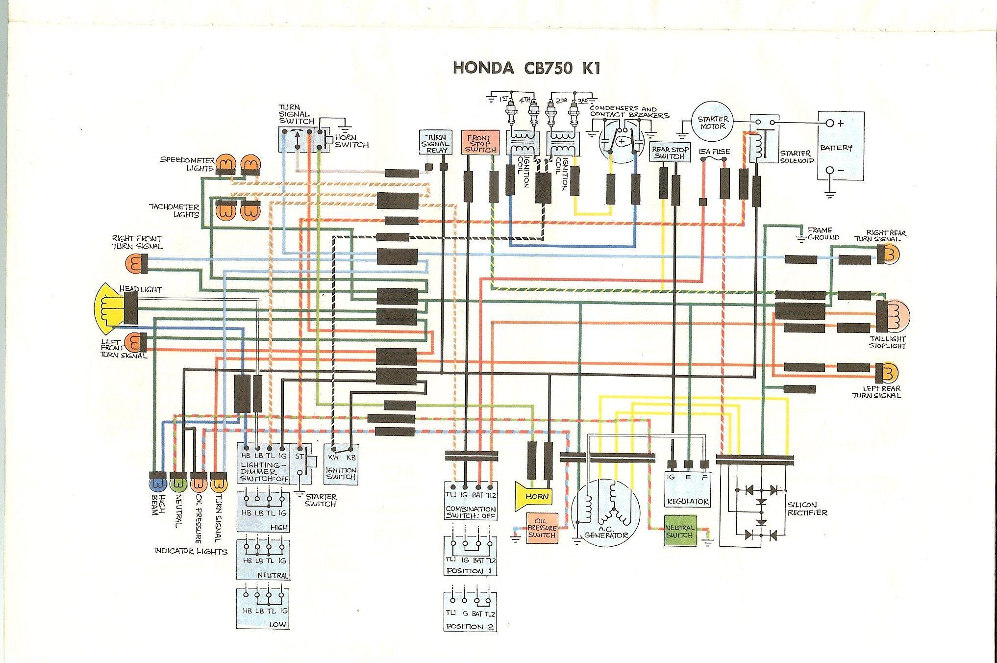 Honda Cb750 Engine Diagram Honda Cb750 Cb750 Honda