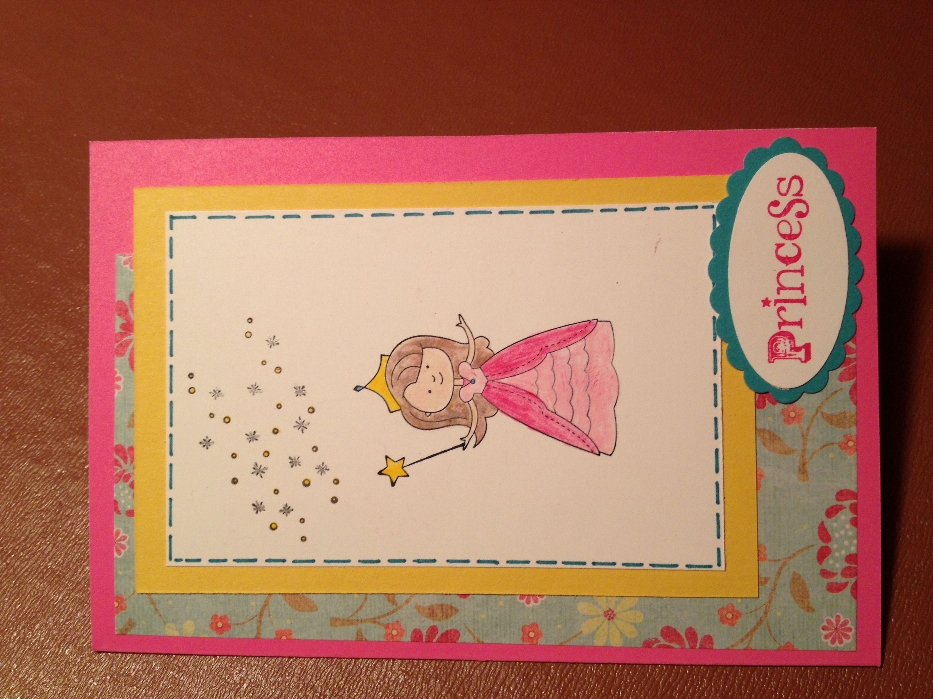 Stampin Up Little Princess Card Card Ideas Girlie Pinterest