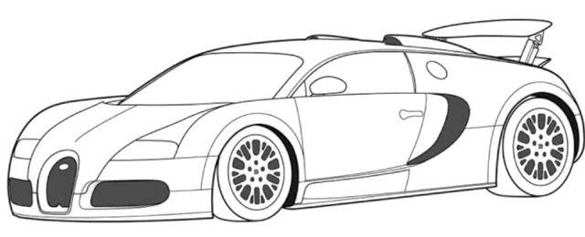Bugatti Veyron Super Car Coloring Page