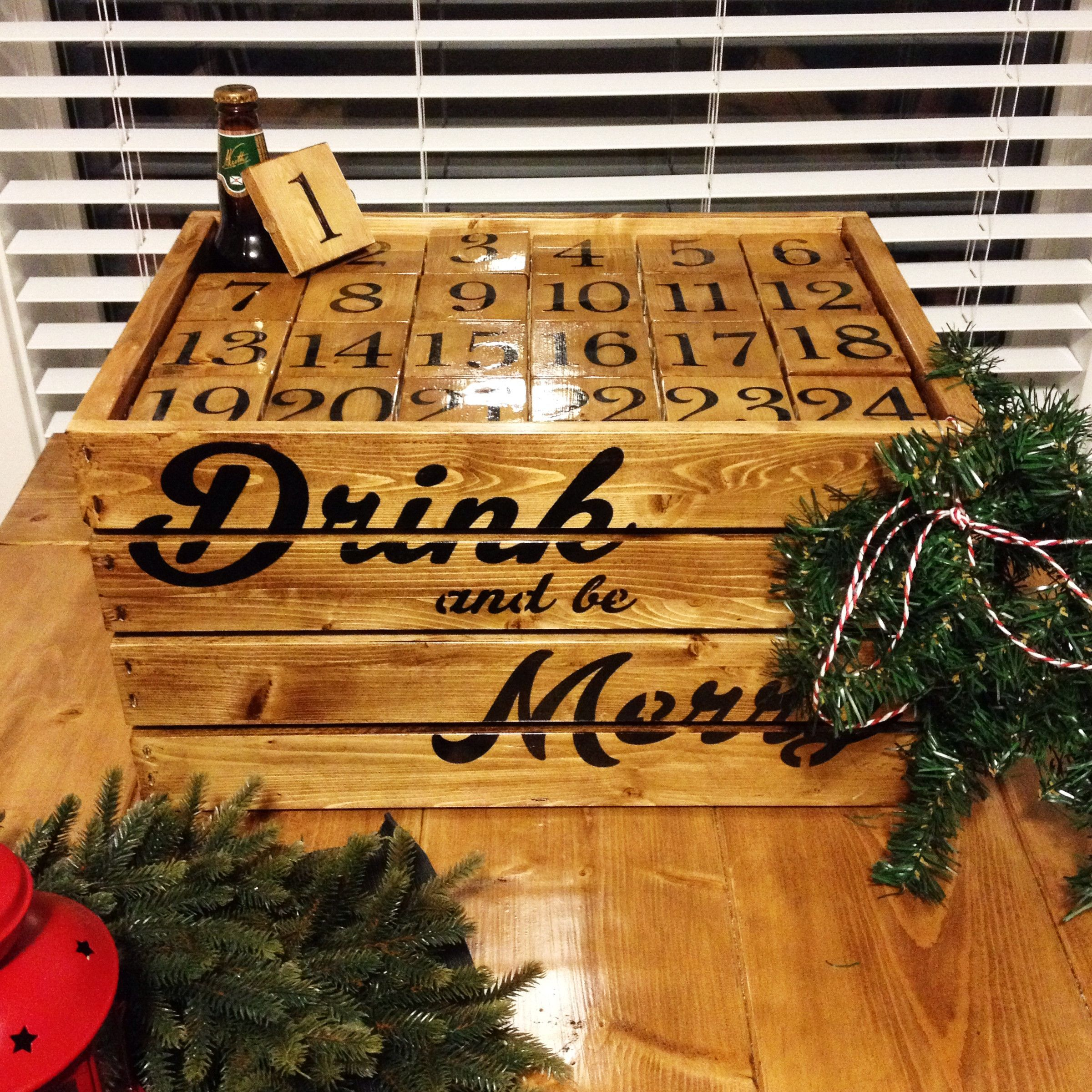 Advent Calendar Ideas Wife : My wife made me a beer advent calendar for christmas this