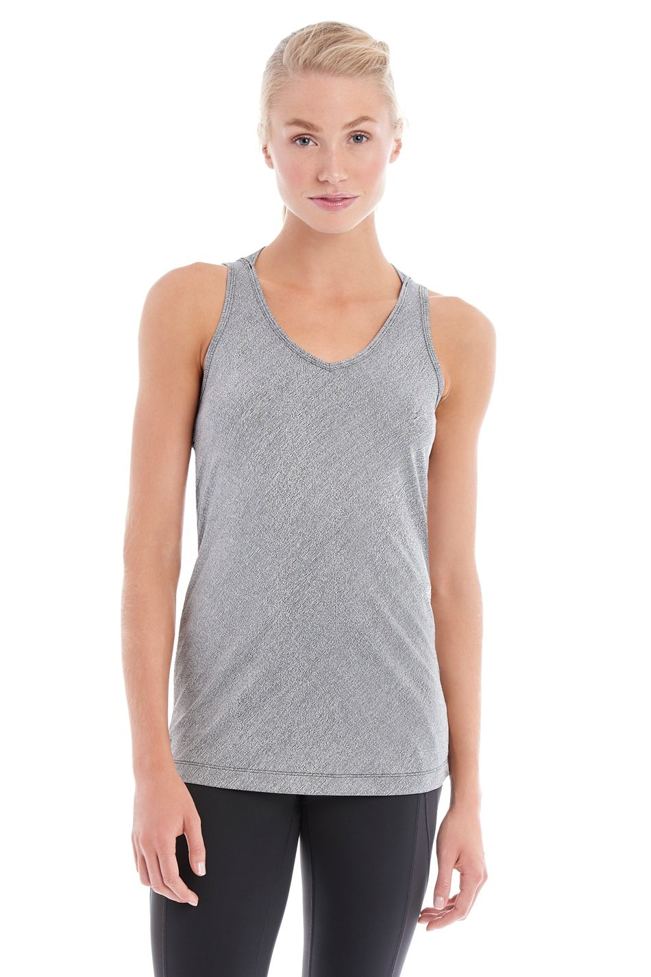 This regular fit tank has lovely back detailing that looks