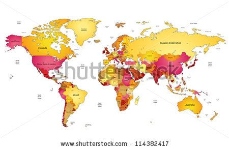Multicolored world map vector illustration by ildogesto via multicolored world map vector illustration by ildogesto via shutterstock gumiabroncs Image collections