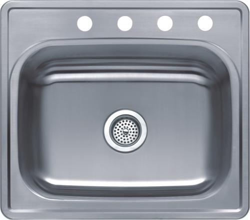 "Tuscany 6"" Stainless Steel Single Bowl Kitchen Sink At Menards Captivating Menards Kitchen Sinks Design Inspiration"
