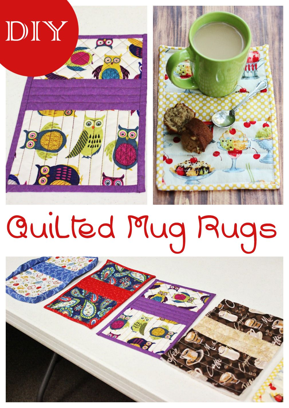 These Easy Sew Diy Quilted Mug Rugs Are