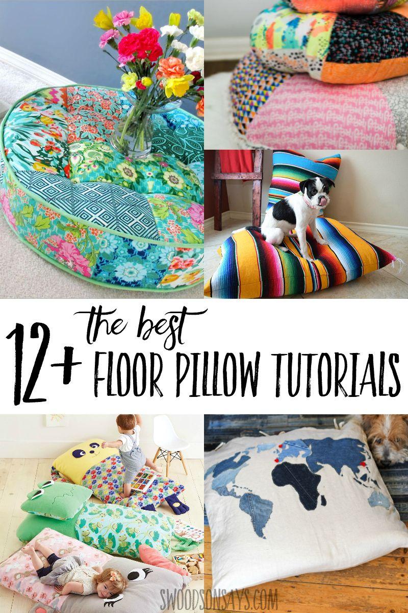 12 Best Diy Floor Pillow Tutorials A Roundup Of Free Floor