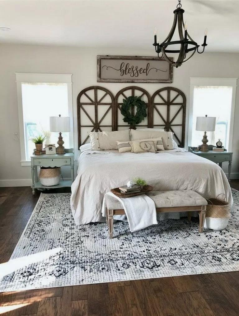 32 Most Admirable Farmstyle Bedroom Ideas For Unique Decor Masterbedroomdesign Masterbedroo Master Bedrooms Decor Farmhouse Bedroom Decor Home Decor Bedroom