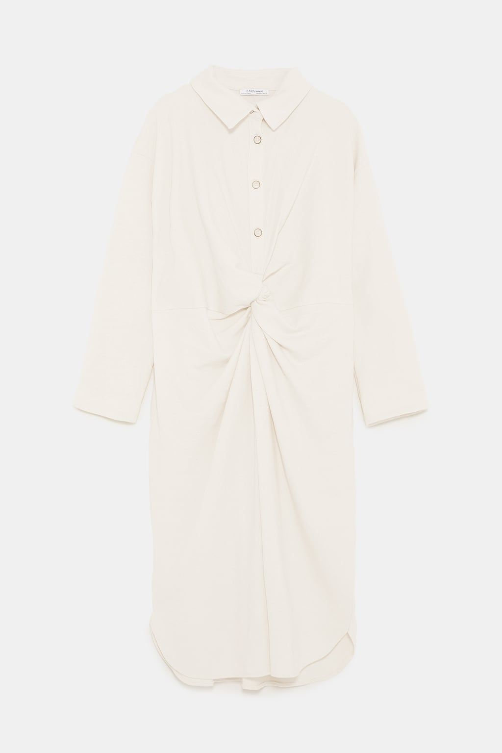 fe25acc036 Image 8 of KNOTTED SHIRT DRESS from Zara