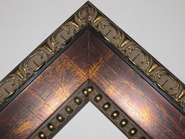 """3"""" Marchasoni Bronze Ornate Wood Picture Frame- Standard sizes #Handmade #Victorian"""