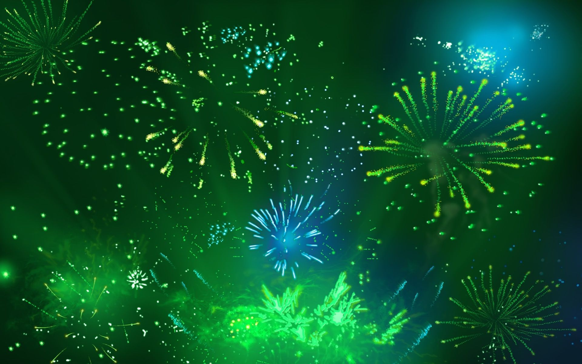 fireworks, green, background, wallpapers, cool,  Fireworks
