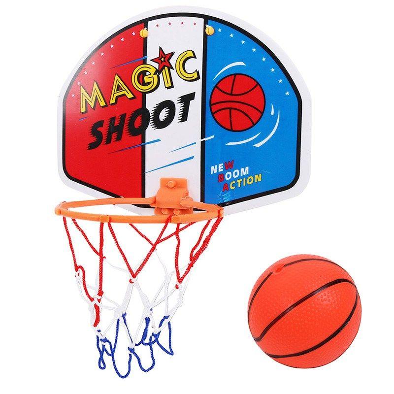 Kids Boys Adjustable Hanging Game Indoor Basketball Netball Hoop Mini Basketball Board Children Gifts H Mini Basketballs Basketball Backboard Indoor Basketball