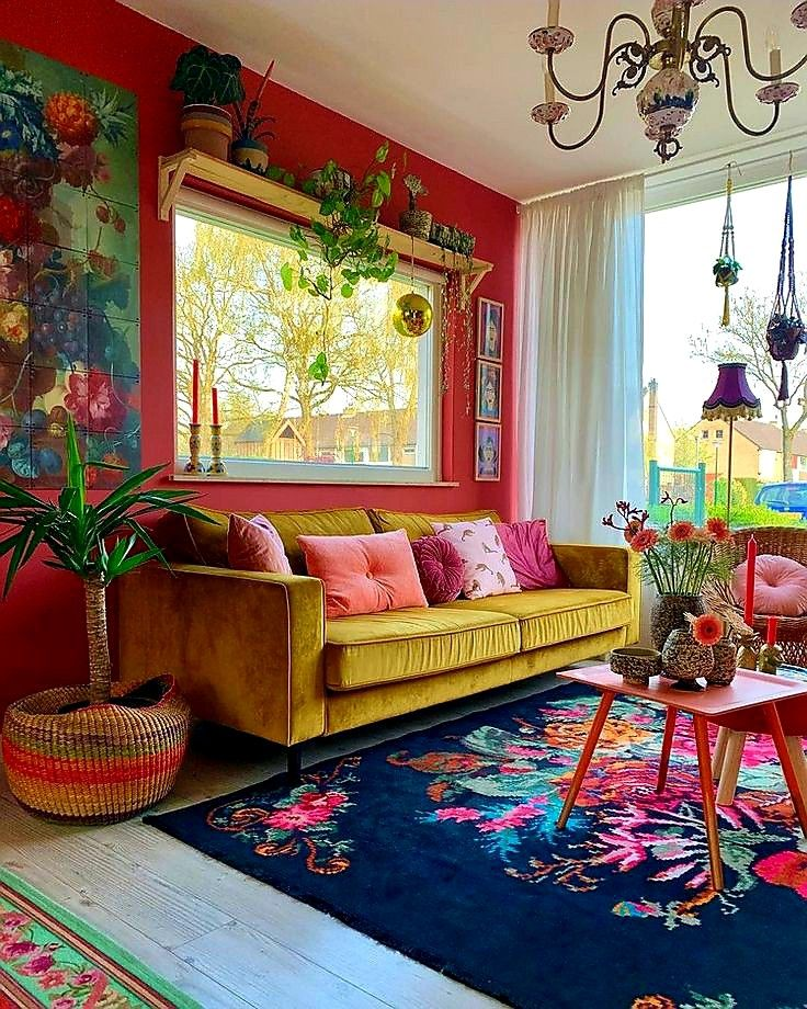 Pin By Esra On Decorasi Colourful Living Room Decor Colourful Living Room Retro Home Decor