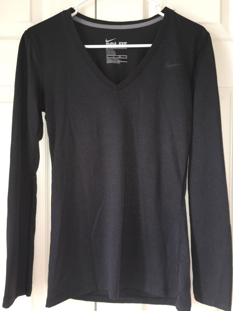 33ae1c067 Nike Dri Fit Womens Top Long Sleeve V Neck Size XS #fashion #clothing  #shoes #accessories #womensclothing #activewear (ebay link)