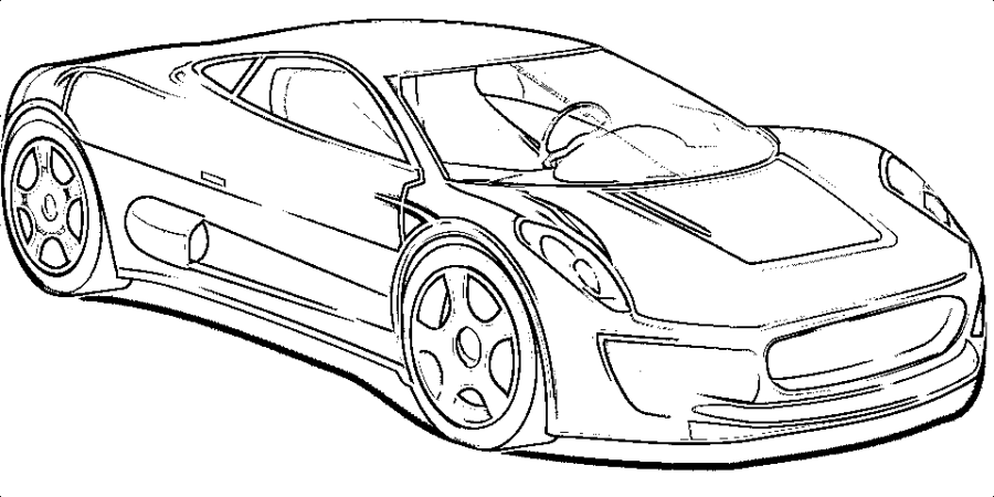 Free Coloring Pages: Sportscar Collection | Free coloring ...