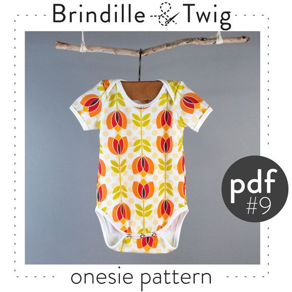 Onesie sewing pattern pdf, long and short sleeve, sizes 0-3M to 2-3T ...