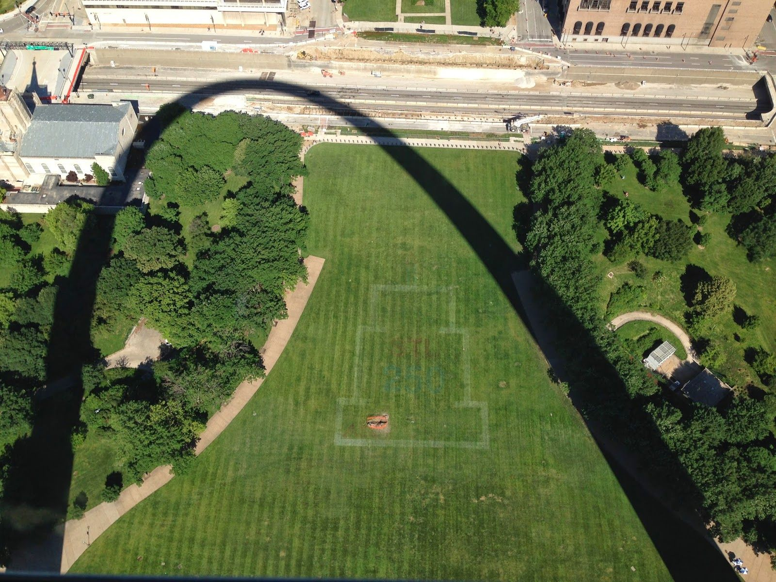View from the top of the Gateway Arch St Louis  St Louis MO
