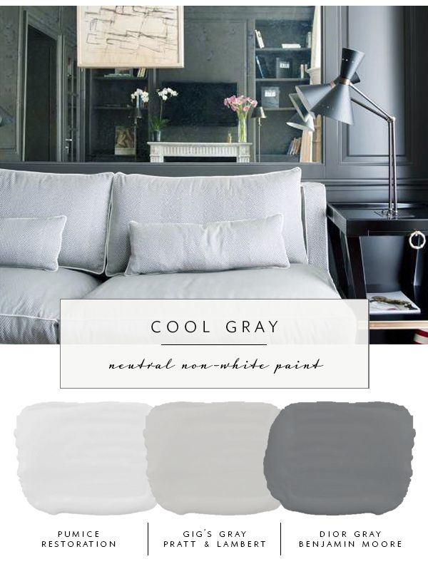 Our The Coco Kelley Guide To Best Neutral Paint Colors That Aren T White Cool Gray