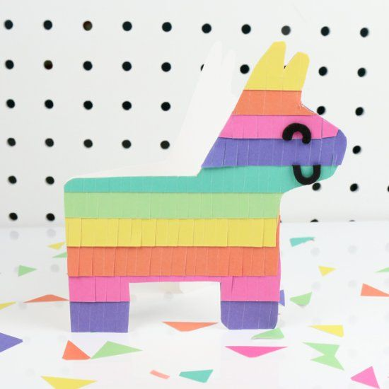 Download our free template to bring this colourful piñata